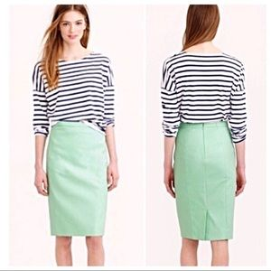 J.Crew NWT No.2 Pencil Skirt Mint Size 0P